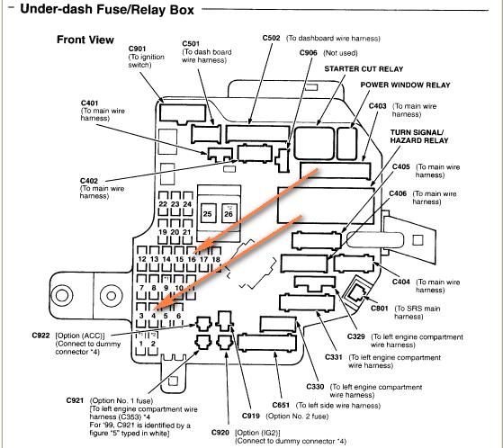 Acura Rsx Fuse Diagram : 2003 Acura Mdx Fuse Diagram