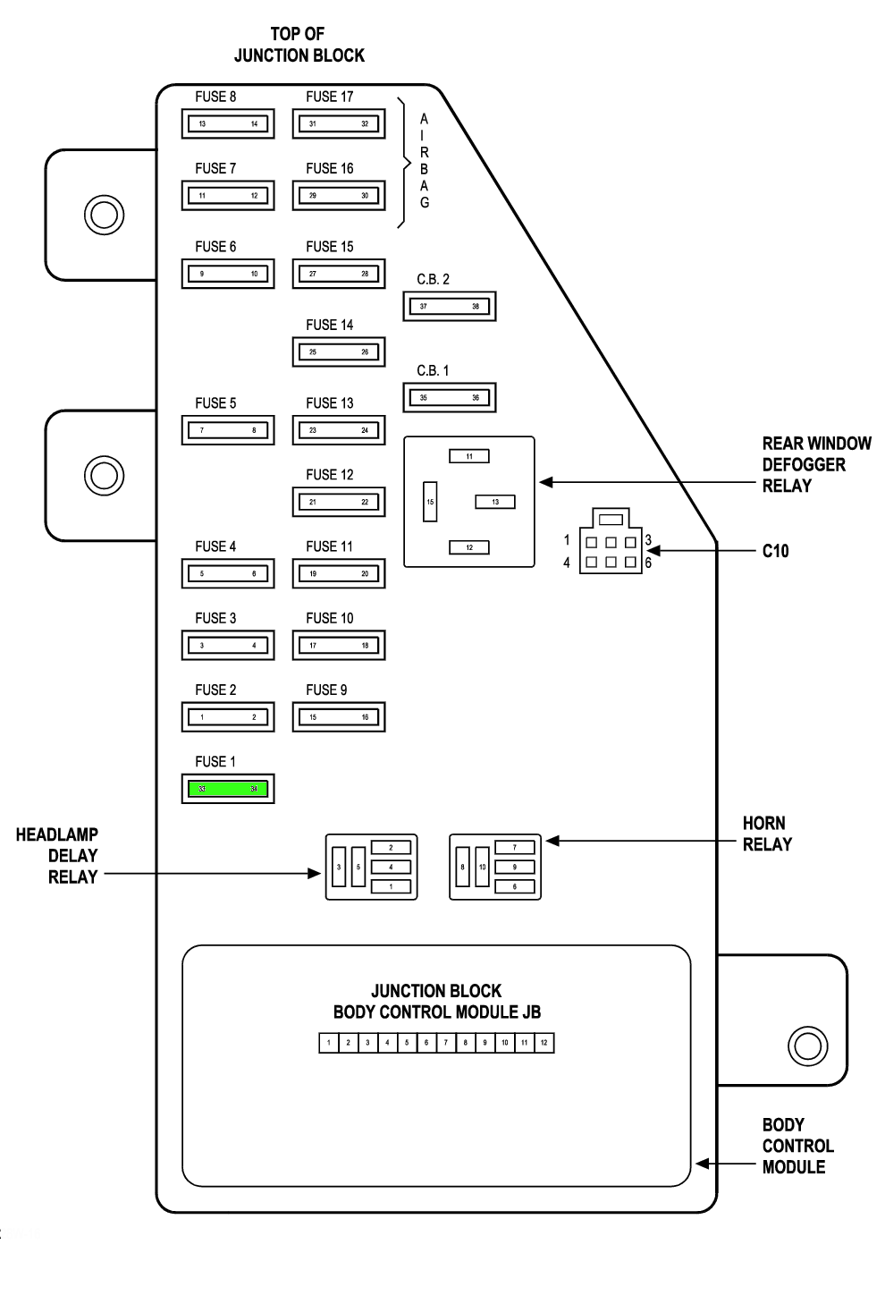 medium resolution of 2007 chrysler pacifica fuse box diagram wiring library 2005 chrysler town country fuse box diagram 2006 chrysler pacifica fuse box diagram