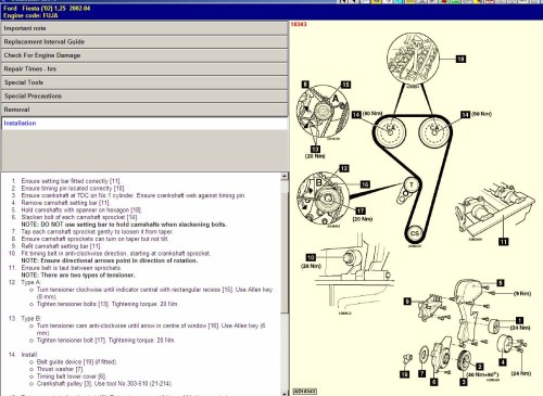 small resolution of ford fiesta timing marks diagram wiring diagramstiming belt kit ford fiesta mark 4 zetec inj 1