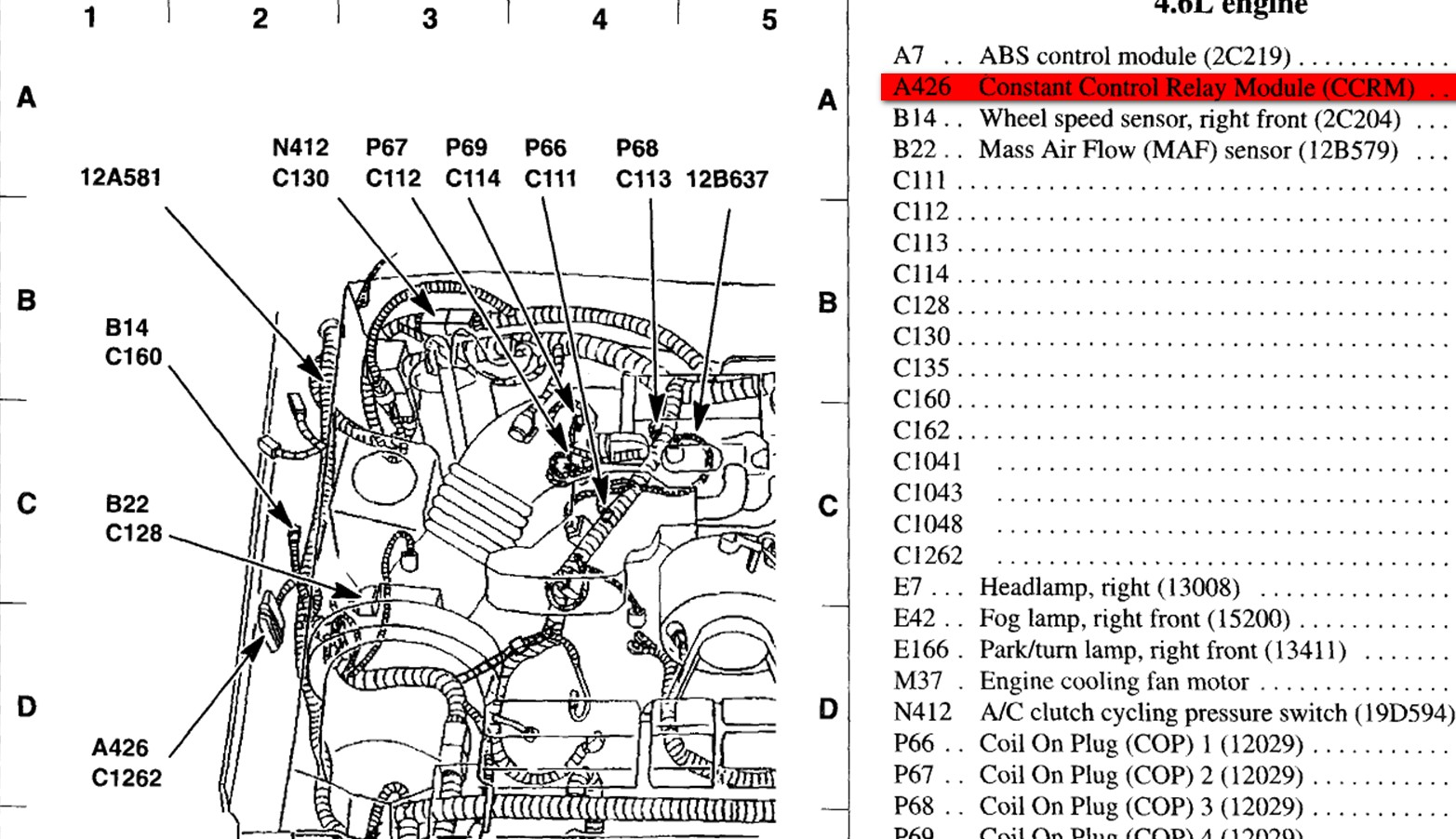2005 Ford Mustang 4 0 Engine Diagram