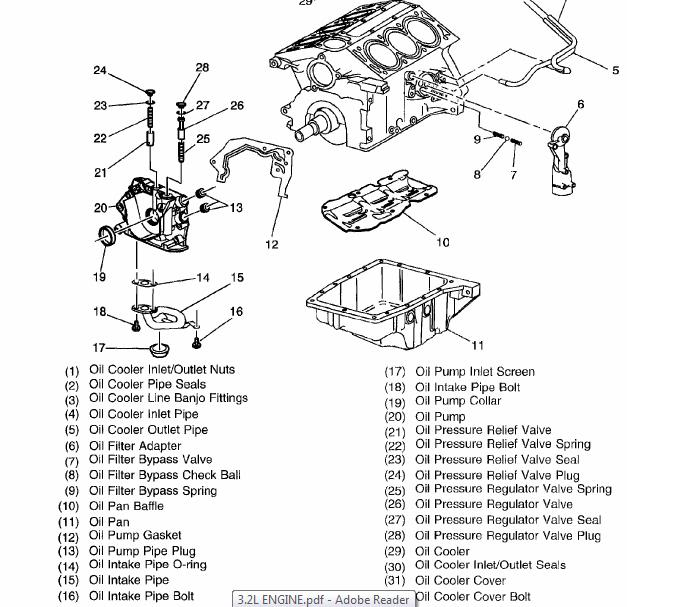 2003 Cadillac CTS Oil Cooler Diagram
