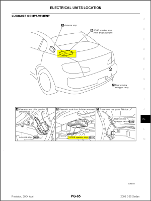 2003 Infiniti G35 Sedan Wiring Diagram  Wiring Diagram