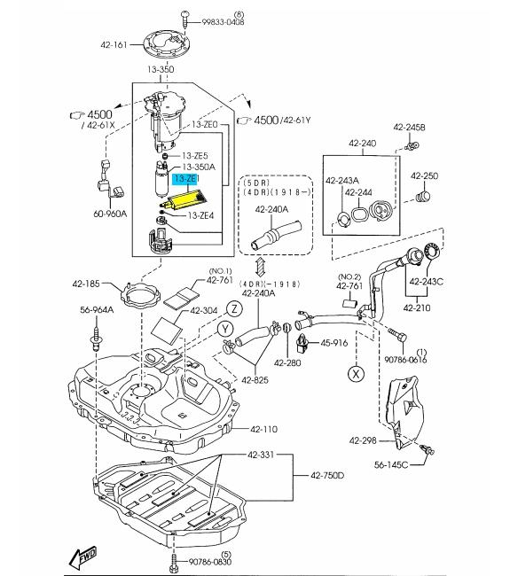 Wiring Diagram PDF: 2002 Mazda Protege Fuel Filter Location