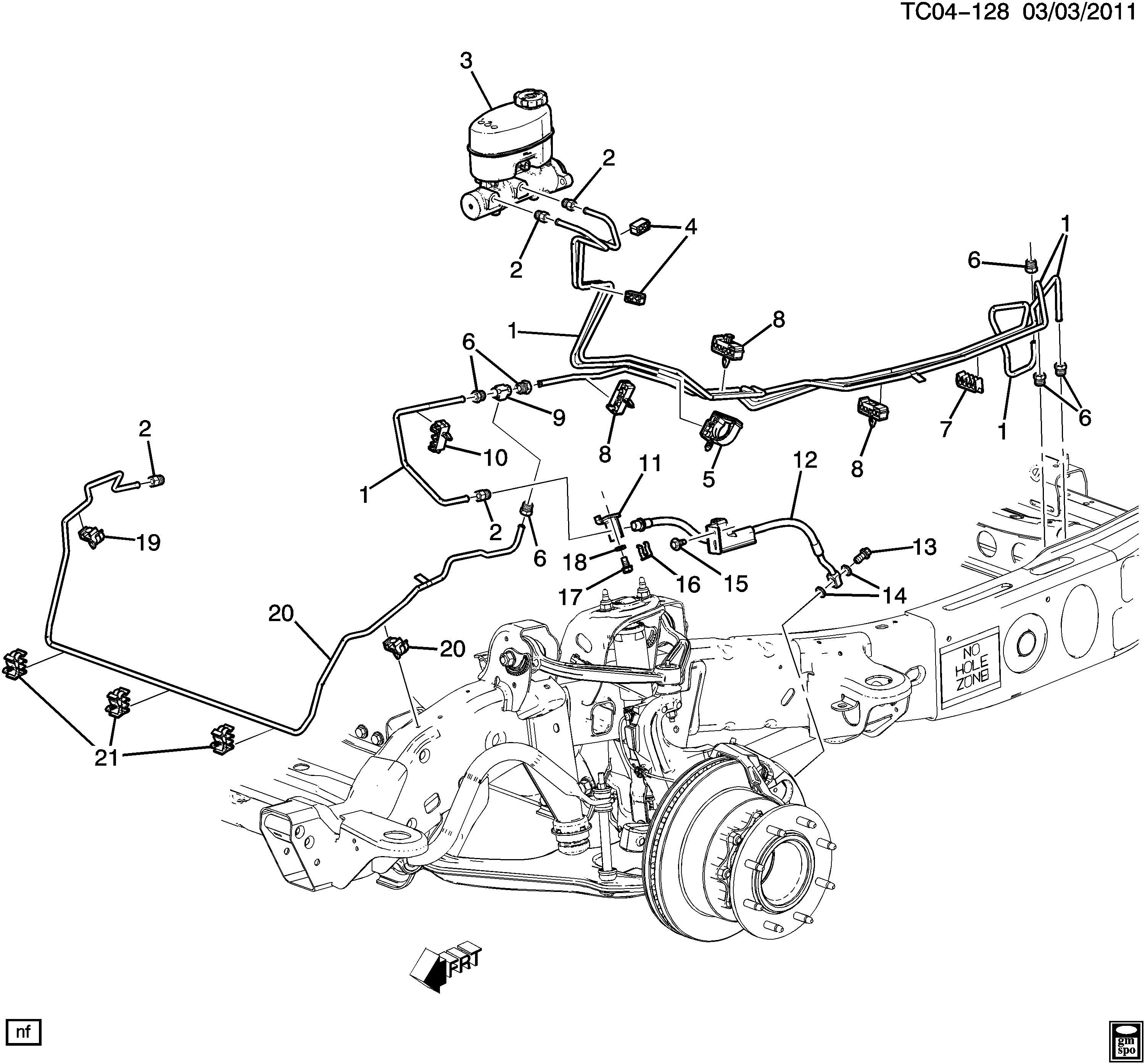 Tahoe Brake Line Diagram