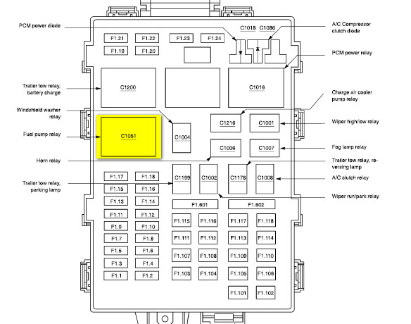 Fuel Pump Relay Location 2004 F350 6 0. Diagram. Wiring