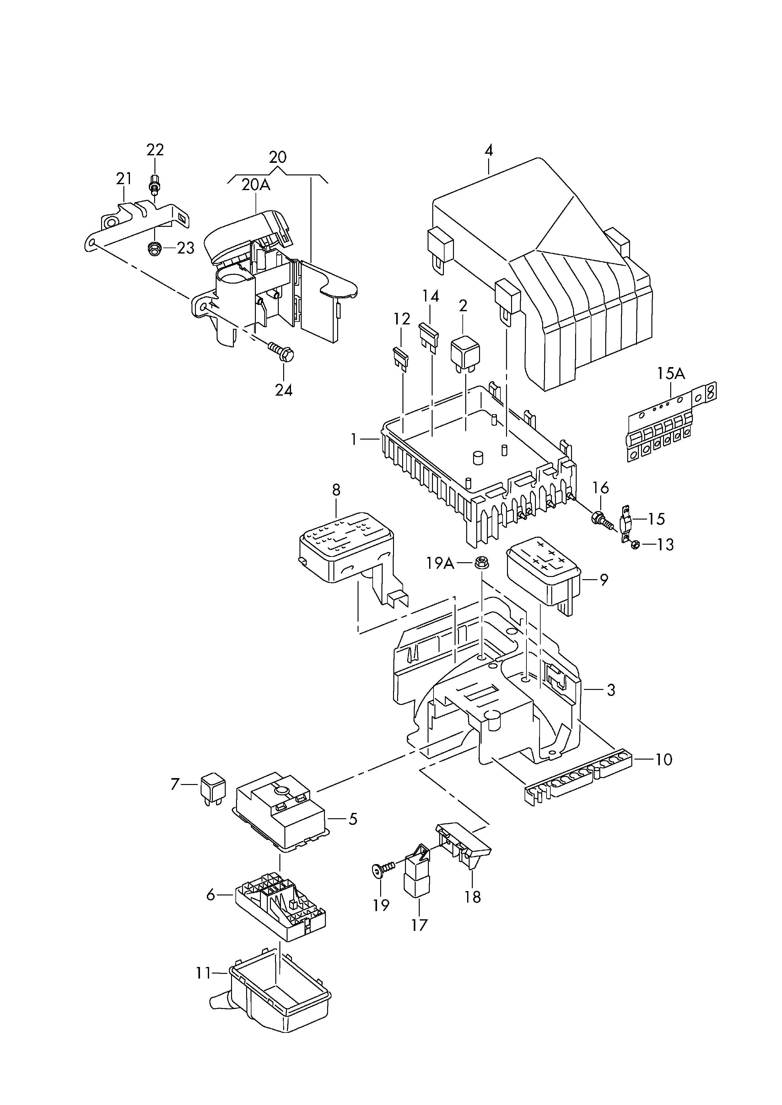 Fuse Box Volkswagen Touareg Diagram. Volkswagen. Auto