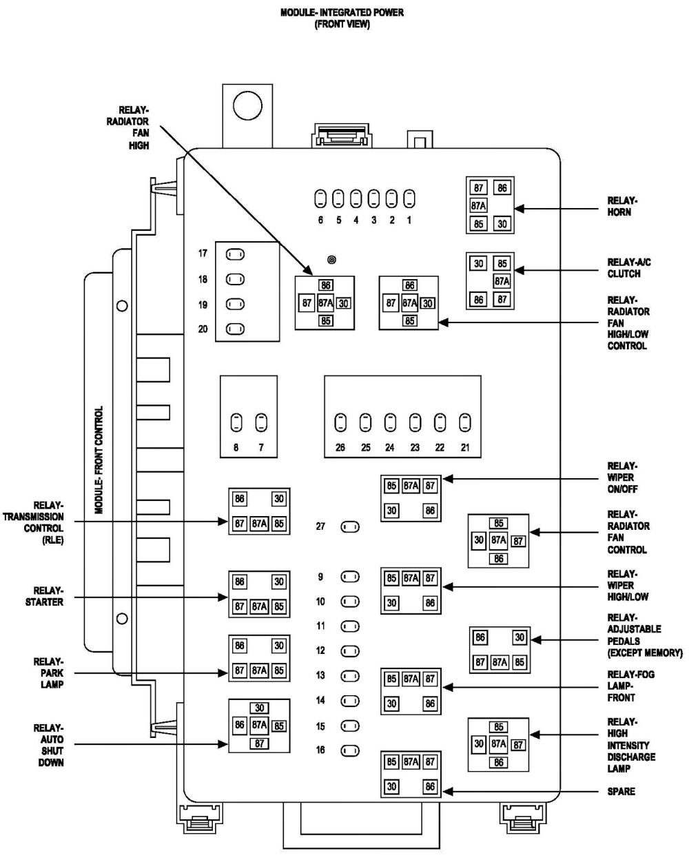 medium resolution of 2009 chrysler sebring fuse diagram wiring diagrams scematic 2004 chrysler sebring on diagram for dodge caravan 2000 2 4l fuse box