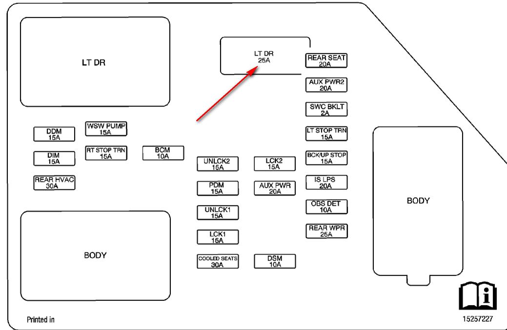 Circuit Electric For Guide: 2005 cadillac escalade fuse
