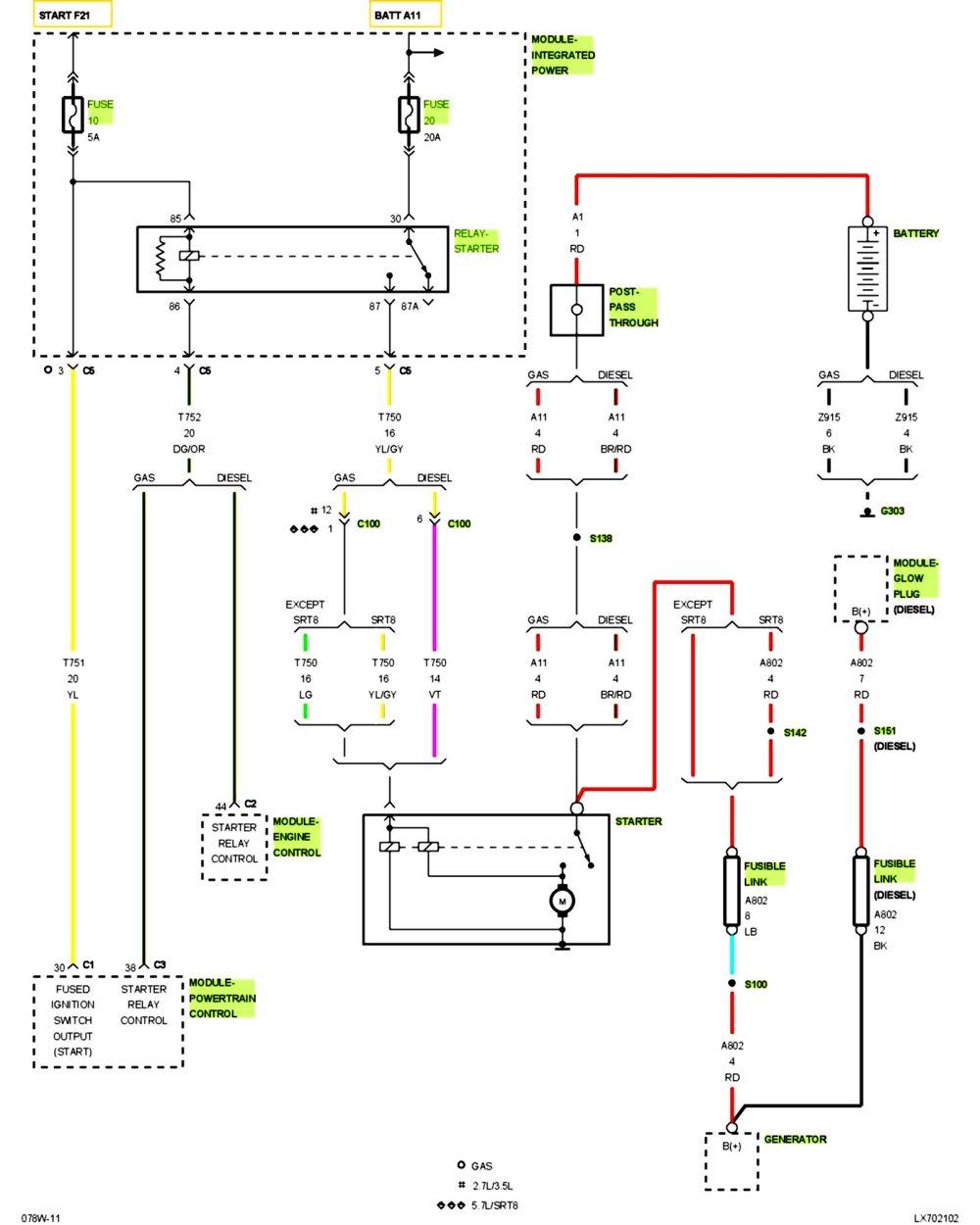 medium resolution of 2007 chrysler 300 starter relay location