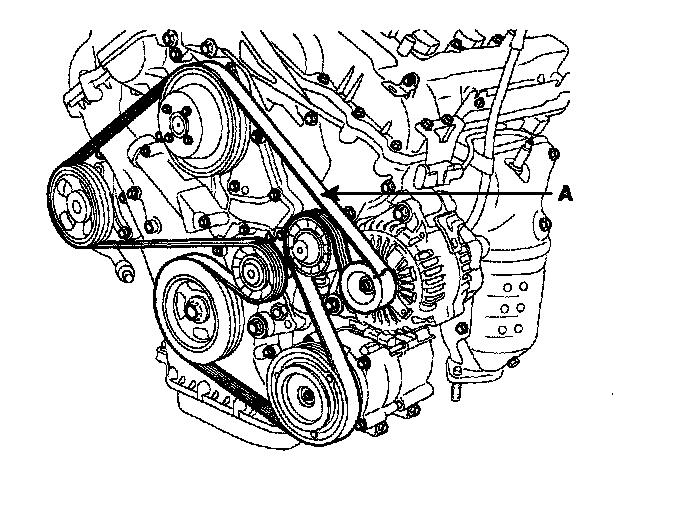 2007 Lexus ES 350 Serpentine Belt Diagram
