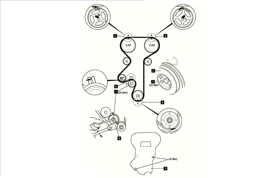 2009 Chevy Aveo Timing Belt Diagram