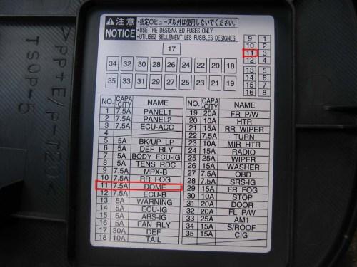small resolution of 2009 toyota corolla fuse box location