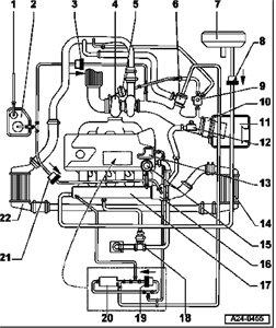 Audi TT Vacuum Hose Diagram