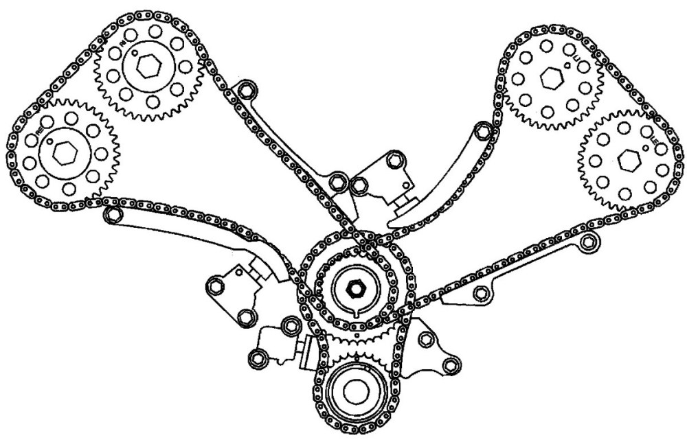 medium resolution of cadillac northstar timing chain diagram