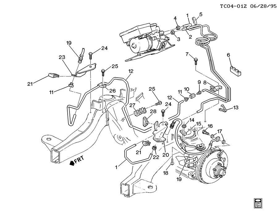 2003 Chevy Tahoe Rear Brake Line