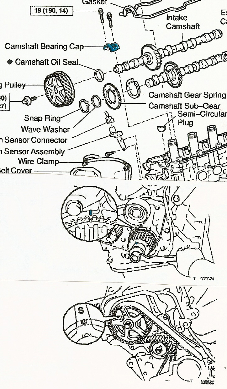 hight resolution of engine timing marks