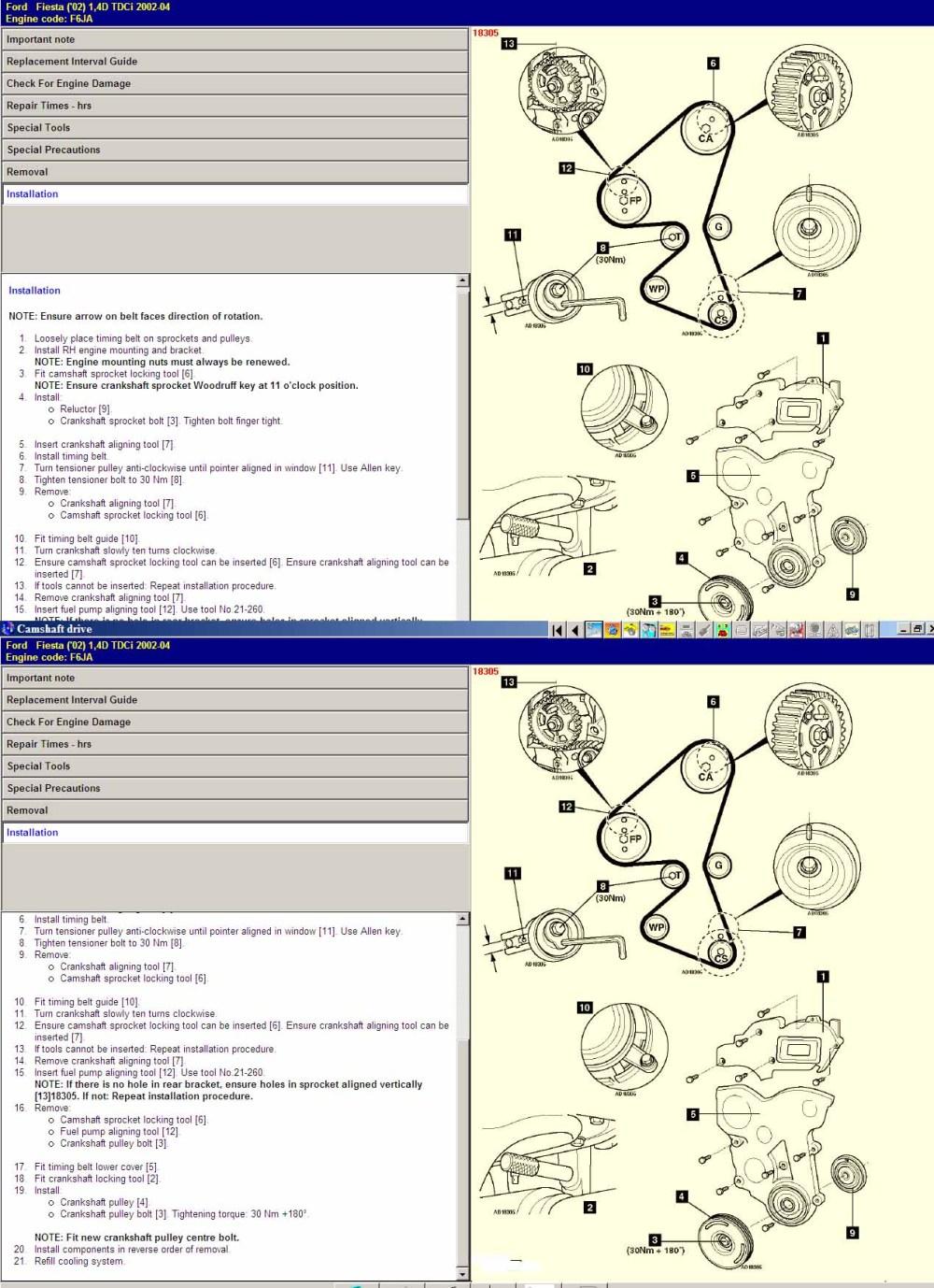 medium resolution of ford timing marks diagram