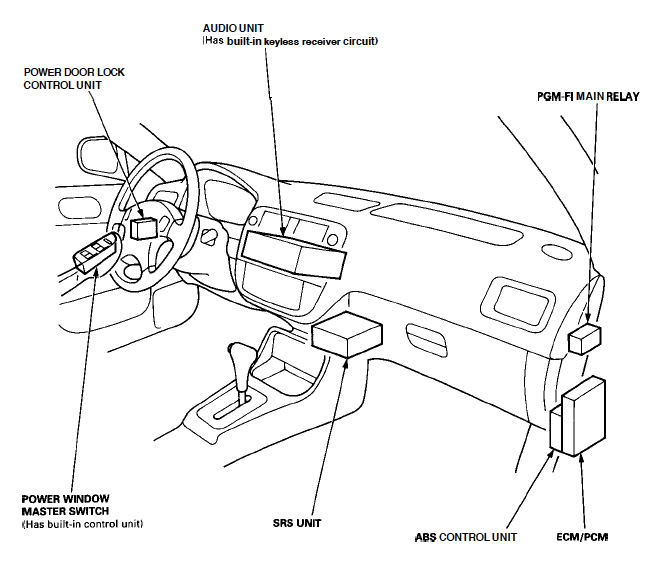 2001 f250 blower relay location