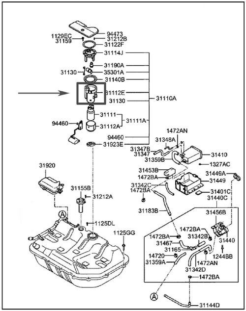 small resolution of hyundai accent fuel filter location