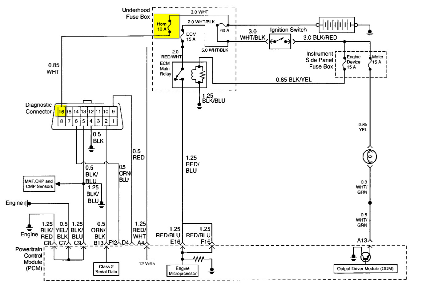 hight resolution of isuzu rodeo fuse box diagram