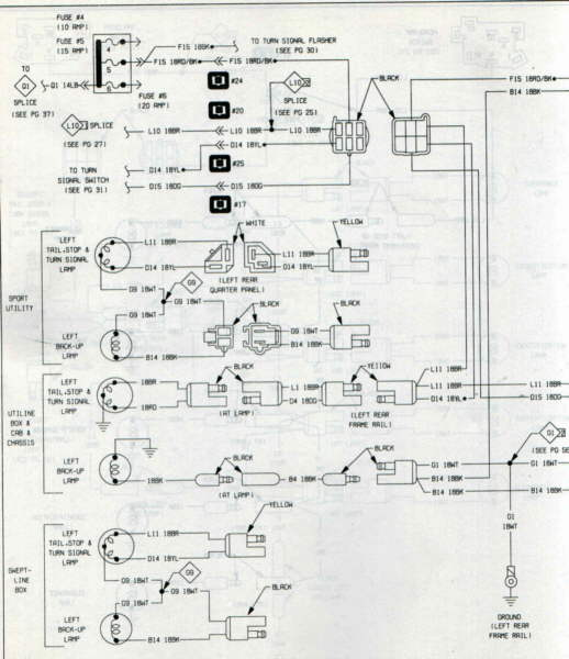 1984 toyota pickup tail light wiring diagram jeep wrangler tj subwoofer cj7 brake manual e bookscj7 rear schematic diagramjeep