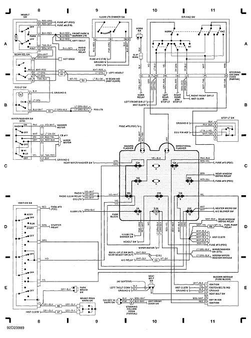 ac unit wiring diagram for 1992 jeep wrangler
