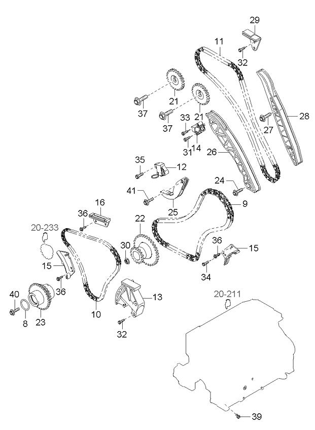 2005 Kia Sorento Engine Diagram