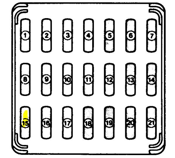 Subaru Legacy Fuse Box Diagram