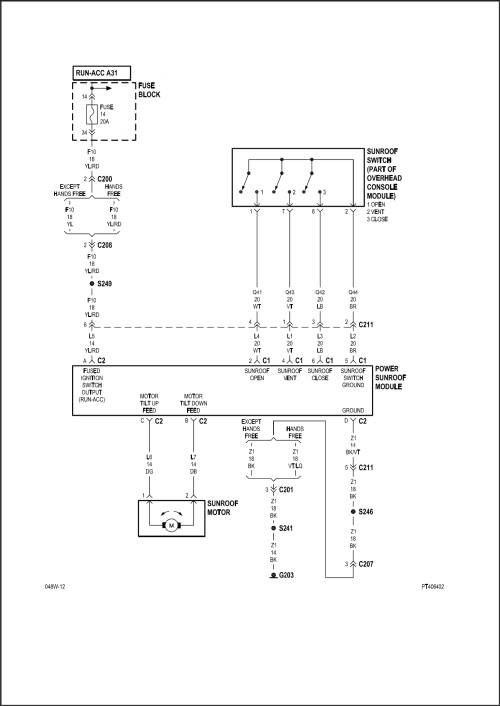 small resolution of sunroof switch wiring diagram