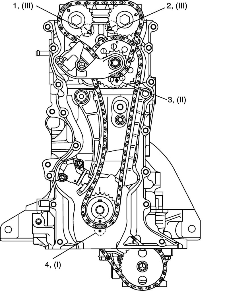 [2004 Suzuki Grand Vitara Engine Timing Chain Diagram