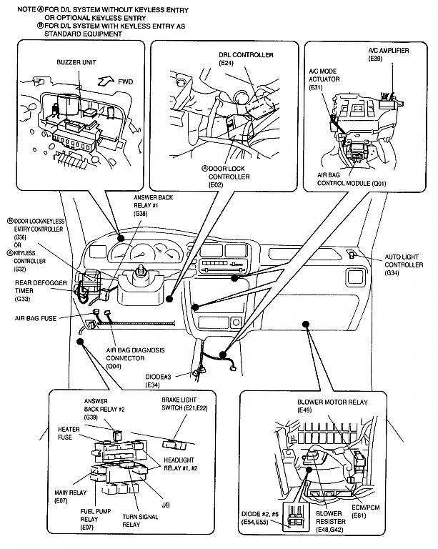 2000 Suzuki Grand Vitara Fuel Pump Relay Location