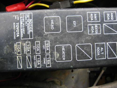 small resolution of fuse box 89 toyota pickup wiring diagram basic 1989 toyota pickup fuse panel diagram
