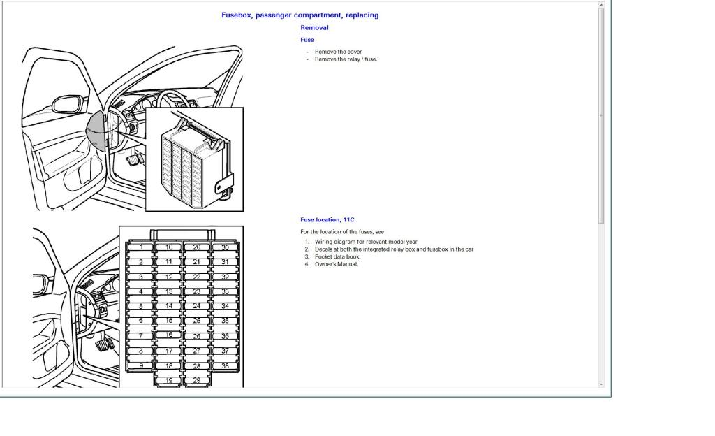 2001 Volvo S40 Fuse Box : 23 Wiring Diagram Images