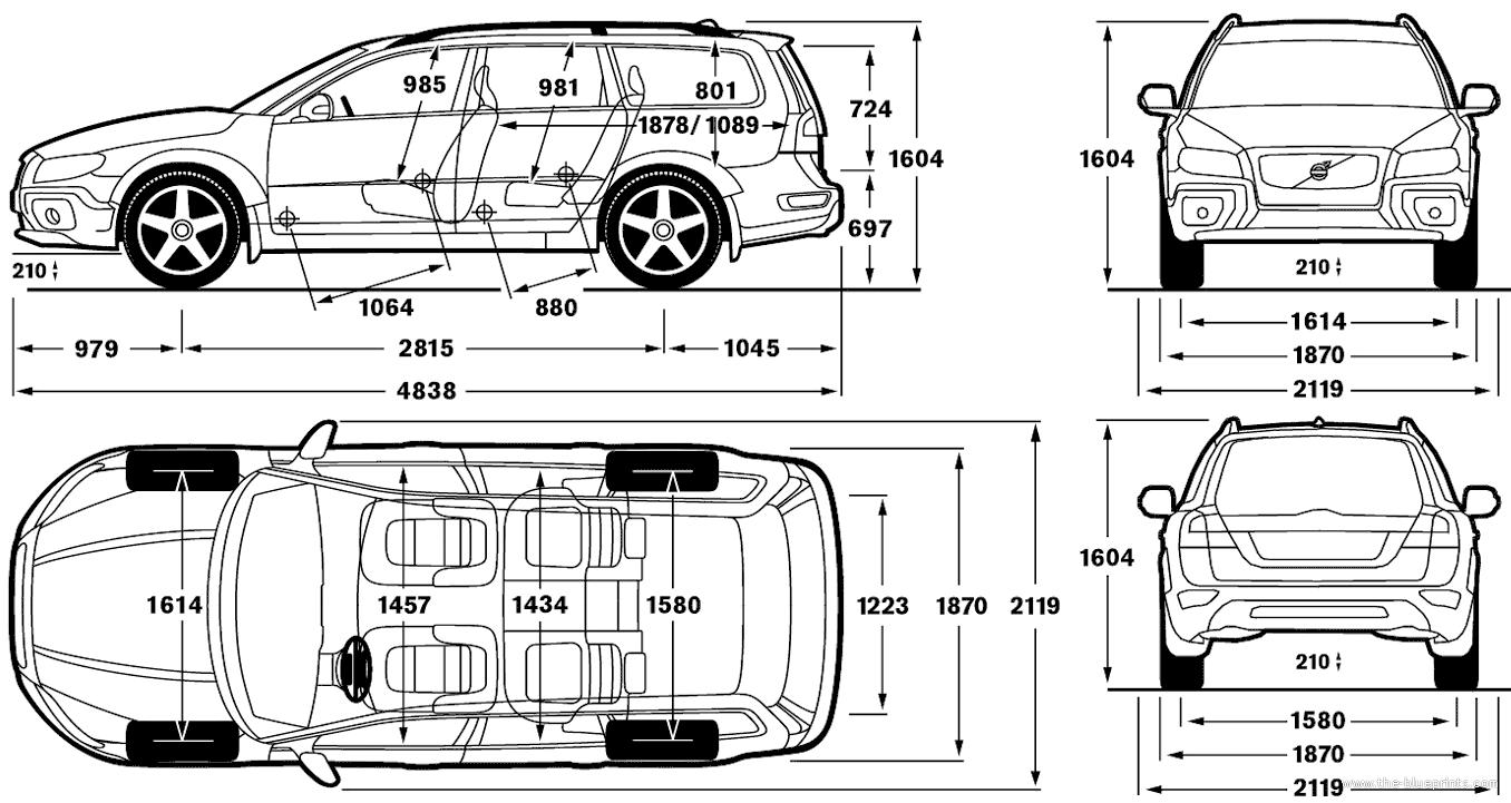 Volvo XC70 Dimensions