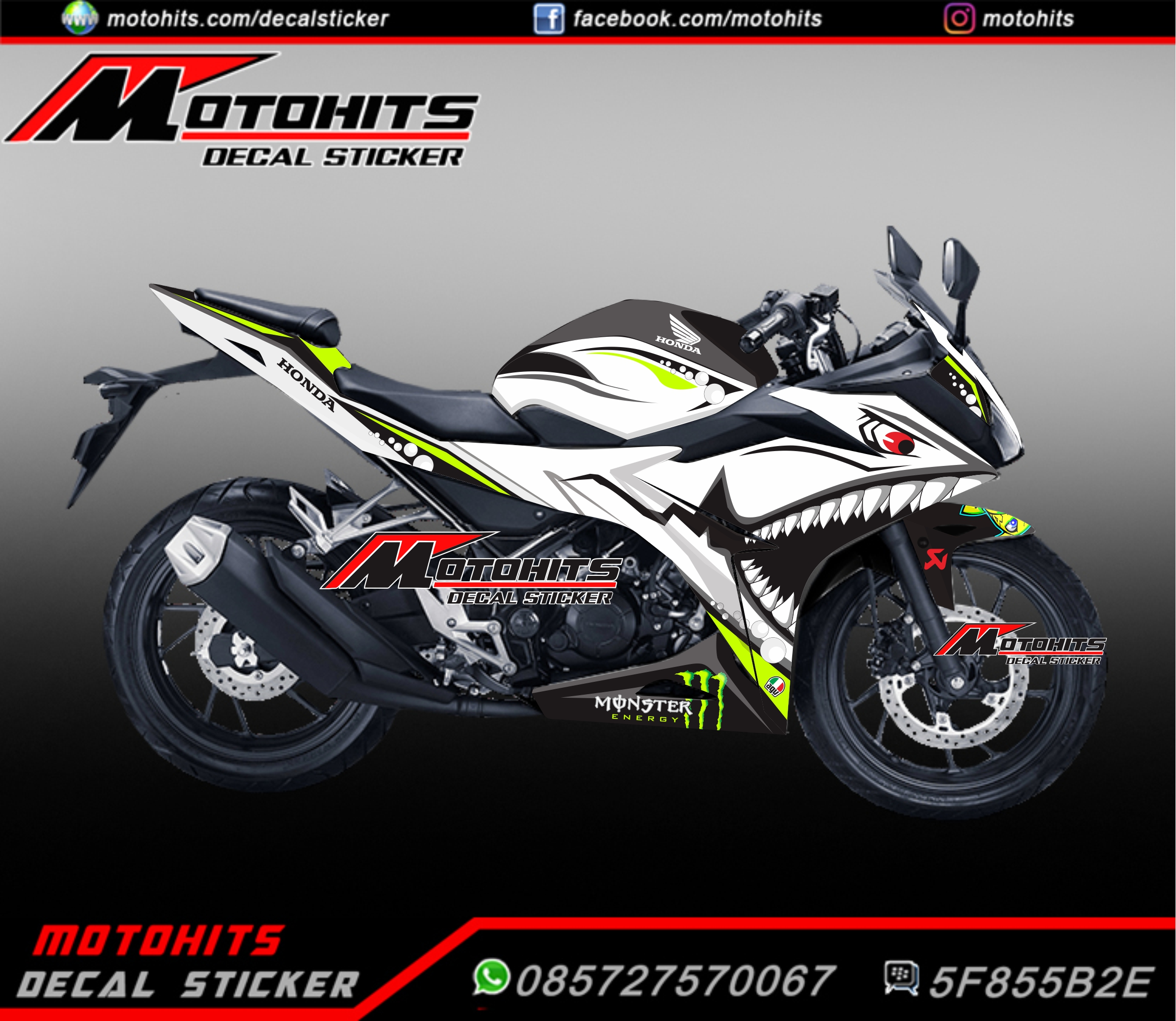 Modifikasi All New Honda CBR150R New Shark Cadas