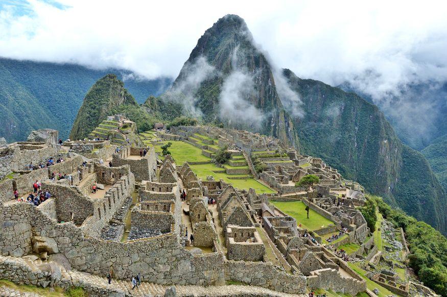 Город инков Мачу Пикчу фото - общий вид