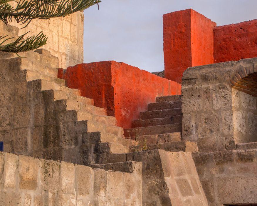 Город Арекипа в Перу - детали и линии