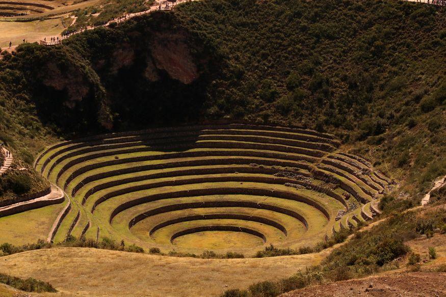 Мораи террасы инков в Священной долине