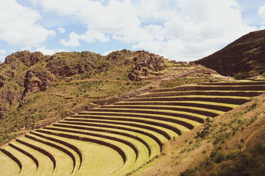 Писак Священная долина вид на террасы инков