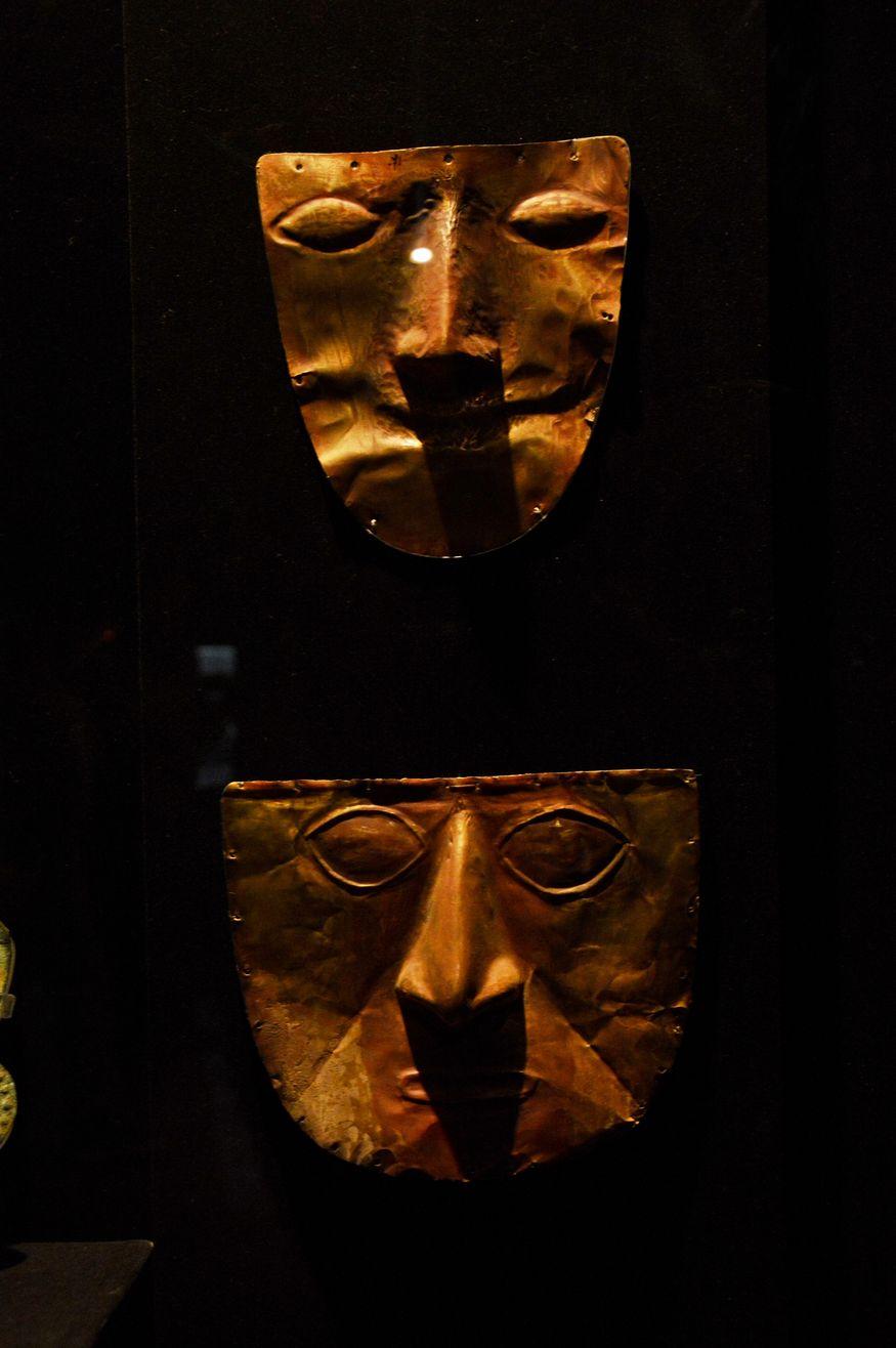 Погребальные золотые маски Перу