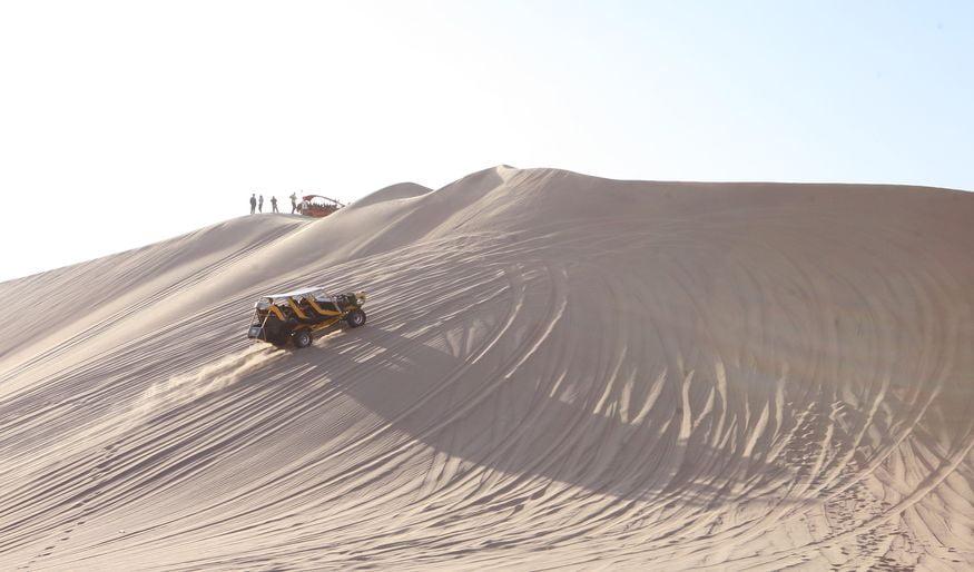 Багги Уакачина Перу - подъем на вершину дюны