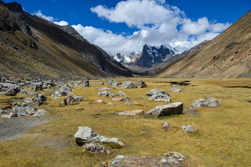 Вид на горную долину в Андах