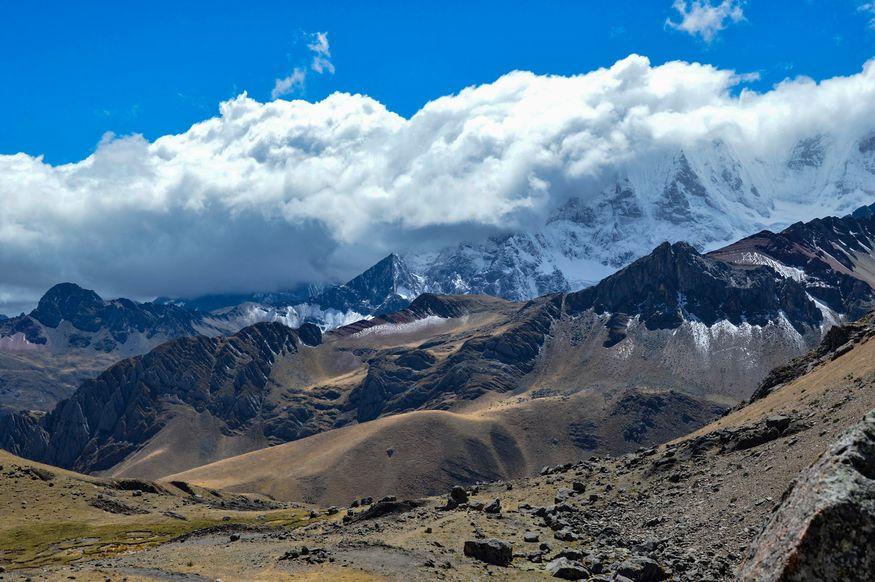 Вид с перевала Yaucha Уараз Перу