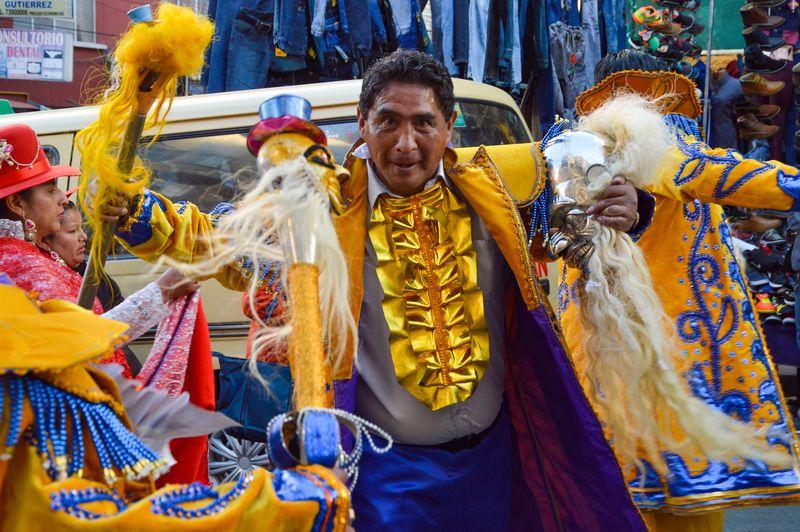 Танцор моренады в Боливии