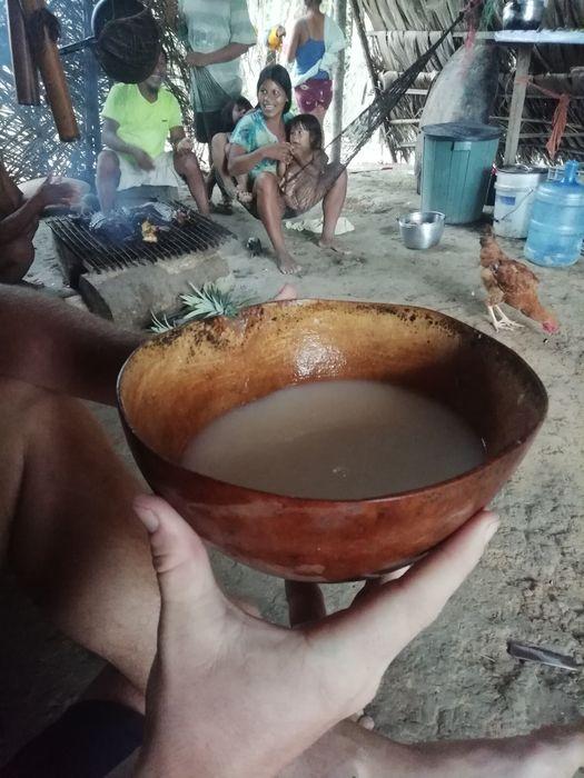 Чича - напиток из пережеванной юкки