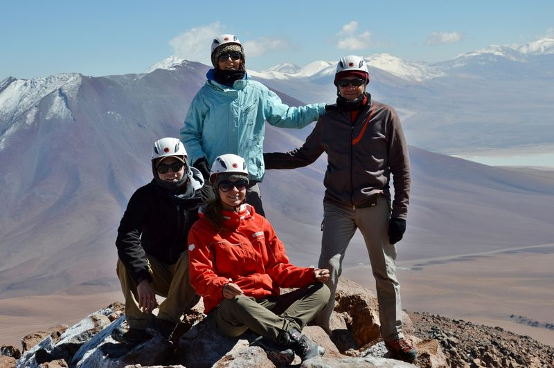 Группа на вершине горы
