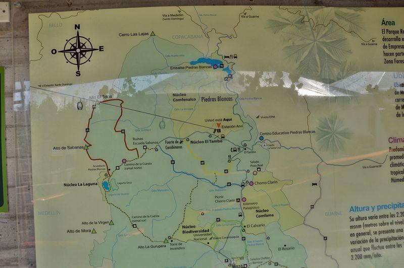 Карта парка Арви Медельин