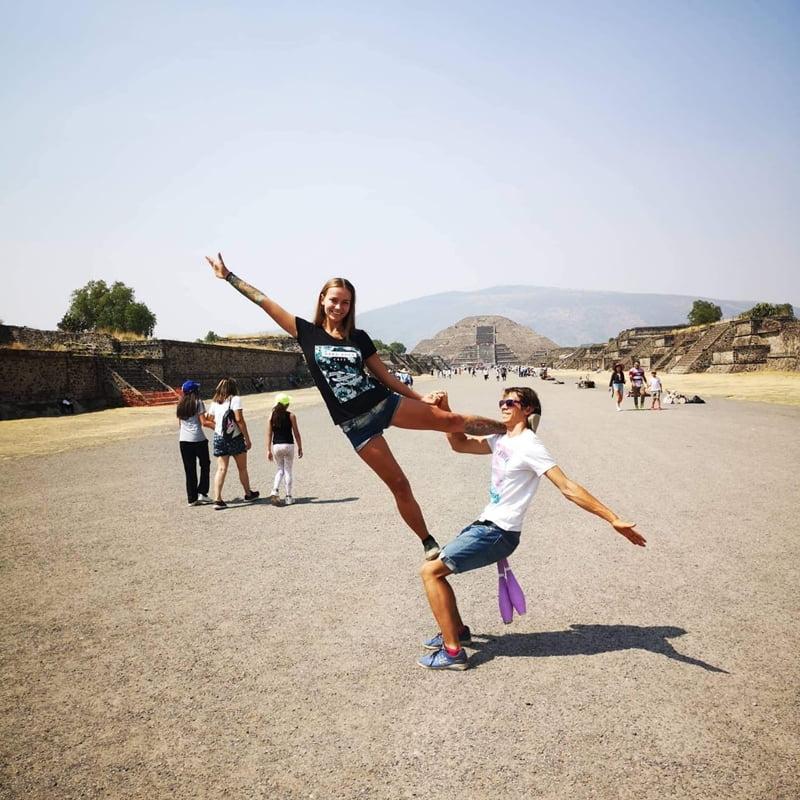 акро-йога в мексике