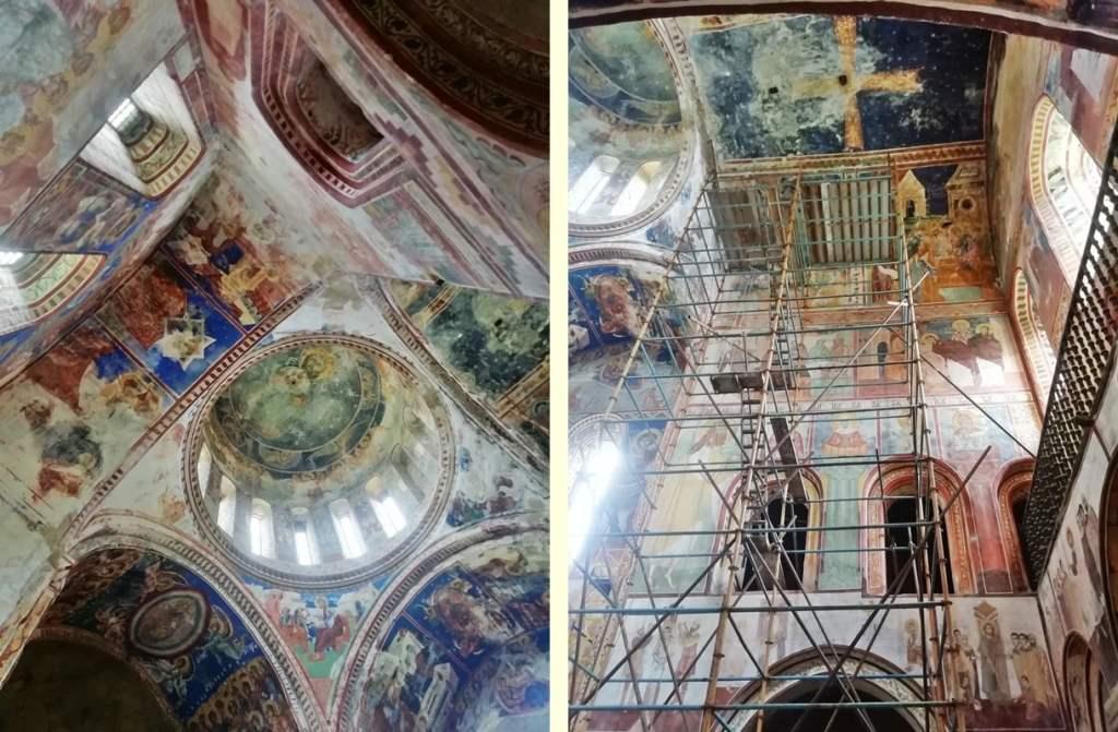 реставрация росписей в Гелати