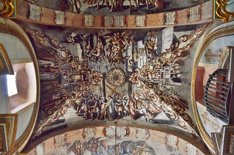 роспись потолка в Атотонилько